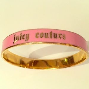 Juicy couture pink and gold bangle bracelet  nice